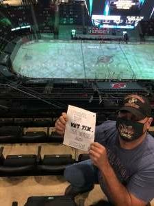 Sean attended New Jersey Devils vs. Philadelphia Flyers - NHL on Apr 27th 2021 via VetTix