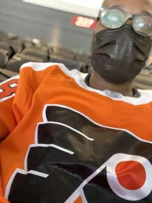 LaTerry Hardy attended New Jersey Devils vs. Philadelphia Flyers - NHL on Apr 27th 2021 via VetTix