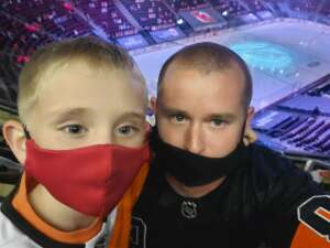 Michael and Jacob  attended New Jersey Devils vs. Philadelphia Flyers - NHL on Apr 27th 2021 via VetTix