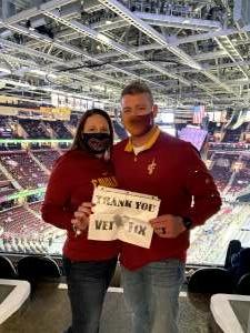 John attended Cleveland Cavaliers vs. Chicago Bulls - NBA on Apr 21st 2021 via VetTix