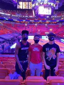 Lynroy Williams attended Heat vs. San Antonio Spurs on Apr 28th 2021 via VetTix