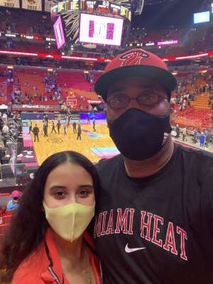 Rob attended Heat vs. San Antonio Spurs on Apr 28th 2021 via VetTix