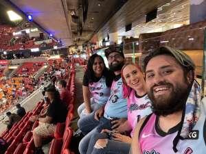 Eric Duplissa attended Heat vs. San Antonio Spurs on Apr 28th 2021 via VetTix