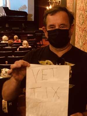 Harold Peterson  attended Jim Brickman on May 2nd 2021 via VetTix
