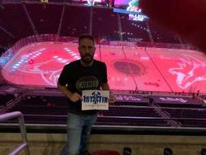 Brad attended Arizona Coyotes vs. Vegas Golden Knights - NHL on Apr 30th 2021 via VetTix