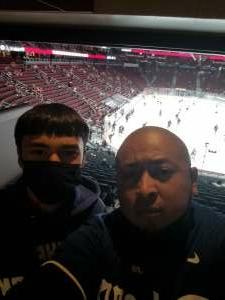 Andrew attended Arizona Coyotes vs. Vegas Golden Knights - NHL on Apr 30th 2021 via VetTix