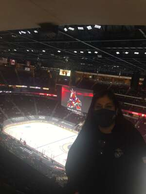 Anne attended Arizona Coyotes vs. Vegas Golden Knights - NHL on Apr 30th 2021 via VetTix