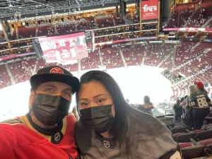 Sgt. Lykins attended Arizona Coyotes vs. Vegas Golden Knights - NHL on May 1st 2021 via VetTix