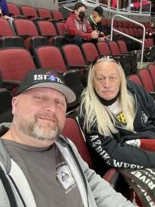 B attended Arizona Coyotes vs. Los Angeles Kings (correction) - NHL on May 3rd 2021 via VetTix