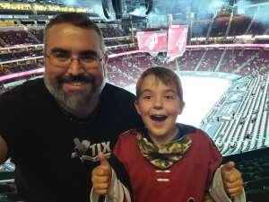 Rick w. attended Arizona Coyotes vs. Los Angeles Kings (correction) - NHL on May 3rd 2021 via VetTix