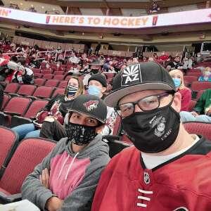 DESTRO attended Arizona Coyotes vs. Los Angeles Kings (correction) - NHL on May 3rd 2021 via VetTix