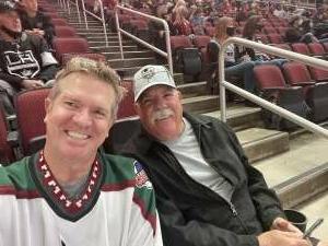 DW attended Arizona Coyotes vs. Los Angeles Kings (correction) - NHL on May 3rd 2021 via VetTix