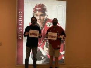 Edmund  attended Arizona Coyotes vs. Los Angeles Kings (correction ) - NHL on May 5th 2021 via VetTix