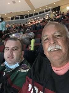 Steve attended Arizona Coyotes vs. Los Angeles Kings (correction ) - NHL on May 5th 2021 via VetTix