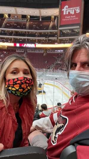 Lew attended Arizona Coyotes vs. Los Angeles Kings (correction ) - NHL on May 5th 2021 via VetTix