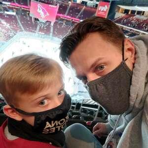 Ben attended Arizona Coyotes vs. Los Angeles Kings (correction ) - NHL on May 5th 2021 via VetTix