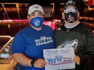 Denise  attended Arizona Coyotes vs. Los Angeles Kings (correction ) - NHL on May 5th 2021 via VetTix
