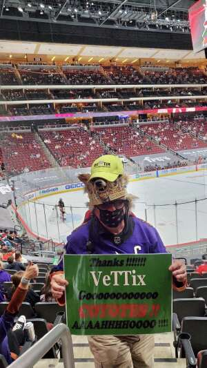 Coyote Joe attended Arizona Coyotes vs. Los Angeles Kings (correction ) - NHL on May 5th 2021 via VetTix