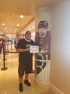 Pete attended Arizona Coyotes vs. Los Angeles Kings (correction ) - NHL on May 5th 2021 via VetTix