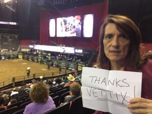 Bridget attended PBR Unleash the Beast on May 1st 2021 via VetTix