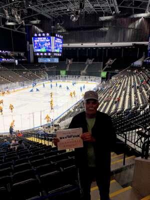 Ray Hall attended Jacksonville Icemen vs. Wheeling Nailers - ECHL on May 9th 2021 via VetTix