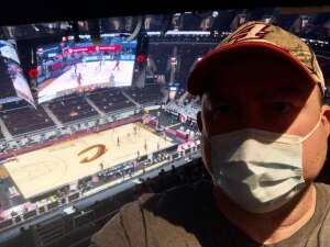 Nathan attended Cleveland Cavaliers vs. Portland Trail Blazers - NBA on May 5th 2021 via VetTix