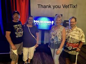 Monica attended Delirious Comedy Club on May 6th 2021 via VetTix