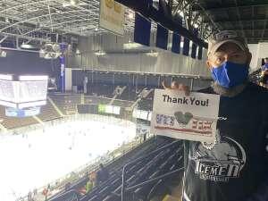 Curtis attended Jacksonville Icemen vs. South Carolina Stingrays - ECHL - Military Appreciation Weekend! on May 15th 2021 via VetTix