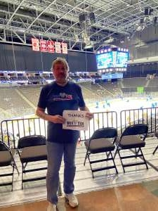 Bruce B attended Jacksonville Icemen vs. South Carolina Stingrays - ECHL - Military Appreciation Weekend! on May 15th 2021 via VetTix