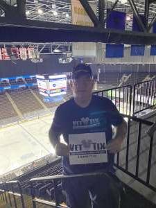 Kent attended Jacksonville Icemen vs. South Carolina Stingrays - ECHL - Military Appreciation Weekend! on May 15th 2021 via VetTix