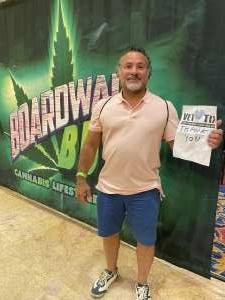 Harold attended Boardwalk Budz on Jun 25th 2021 via VetTix