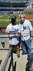 Joseph Gonzalez  attended New York Yankees vs. Houston Astros - MLB - Premium Seating on May 6th 2021 via VetTix
