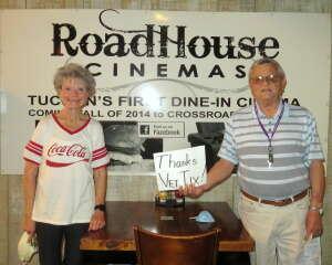 Willie & Wife attended Roadhouse Cinemas Thursday for Vets on Jun 3rd 2021 via VetTix