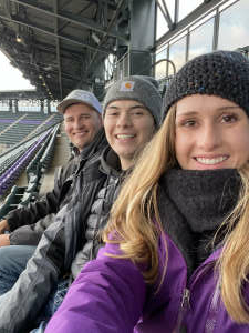 Colby attended Colorado Rockies vs. San Diego Padres on May 11th 2021 via VetTix