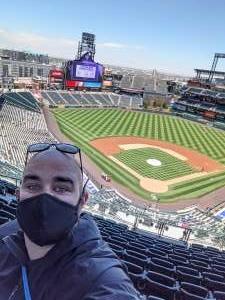 Freeman attended Colorado Rockies vs. San Diego Padres on May 12th 2021 via VetTix