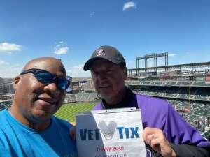 Mr. Vegas attended Colorado Rockies vs. San Diego Padres on May 12th 2021 via VetTix