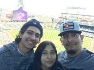 Alfonsola1775 attended Colorado Rockies vs. San Diego Padres on May 12th 2021 via VetTix
