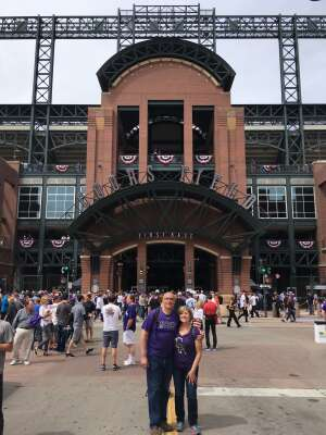 William Schuman attended Colorado Rockies vs. San Diego Padres on May 12th 2021 via VetTix