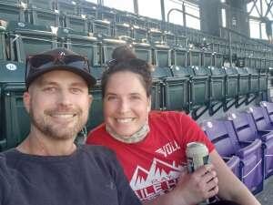 Nick attended Colorado Rockies vs. San Diego Padres on May 12th 2021 via VetTix