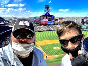 Anthony B. attended Colorado Rockies vs. San Diego Padres on May 12th 2021 via VetTix