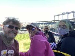 The Peasleys attended Colorado Rockies vs. San Diego Padres on May 12th 2021 via VetTix