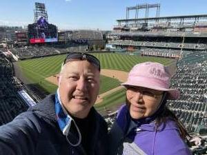 Sean attended Colorado Rockies vs. San Diego Padres on May 12th 2021 via VetTix