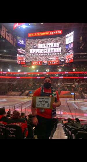 Gehrig Geissinger attended Philadelphia Flyers vs. New Jersey Devils - NHL ** Military Appreciation Night ** Please Read Event Notes ** on May 10th 2021 via VetTix