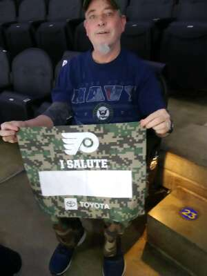 Charlie attended Philadelphia Flyers vs. New Jersey Devils - NHL ** Military Appreciation Night ** Please Read Event Notes ** on May 10th 2021 via VetTix