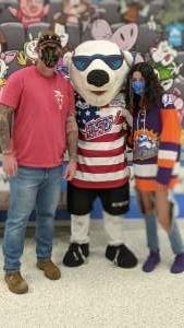 Houck attended Orlando Solar Bears vs. Greenville Swamp Rabbits - ECHL - Military Appreciation Night on May 8th 2021 via VetTix