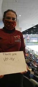 Kristyn attended Tucson Roadrunners vs. Ontario on May 16th 2021 via VetTix