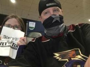Todd attended Tucson Roadrunners vs. Ontario on May 16th 2021 via VetTix