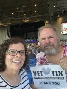Falcon attended An Evening With Chicago and Their Greatest Hits on Jun 29th 2021 via VetTix