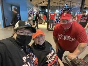Sarge attended Miami Marlins vs. Philadelphia Phillies - MLB on May 25th 2021 via VetTix