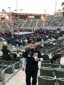 Arturo attended Premier Boxing Champions: Nery vs. Figueroa on May 15th 2021 via VetTix